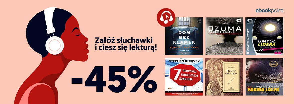 Promocja na ebooki Załóż słuchawki i ciesz się lekturą! [-45%]